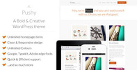 Thumbnail Pushy - A Bold & Creative Marketing WP theme